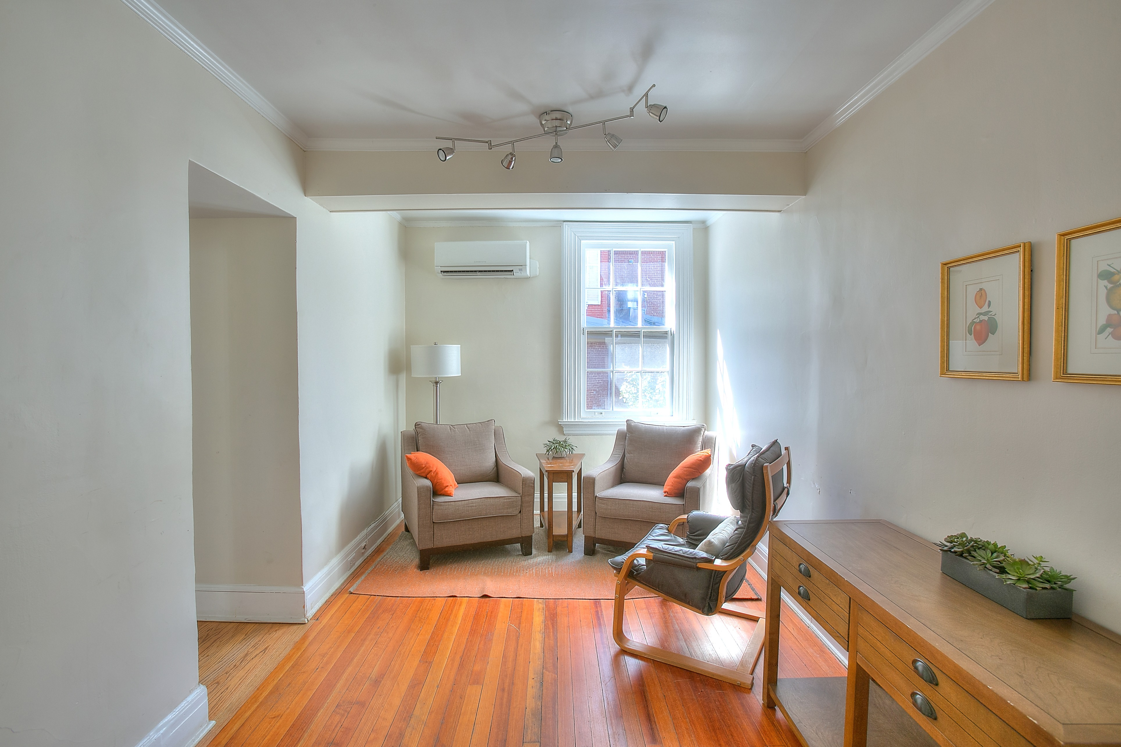Additional breakout or catering space included with rental of Quaker House Living Room