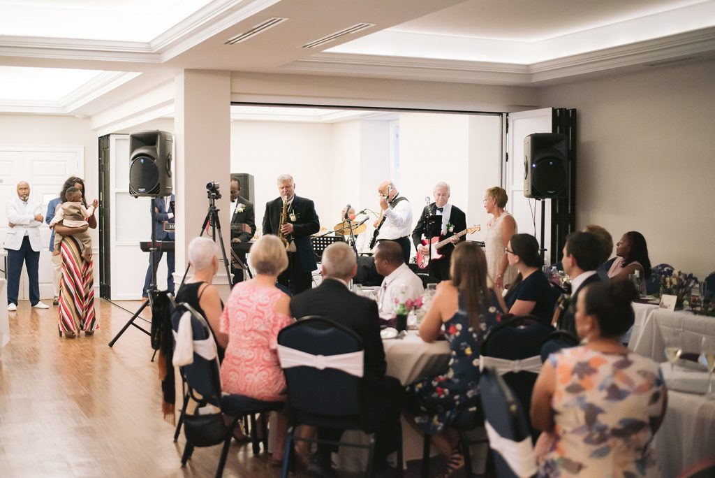 Live music at a wedding reception in the Assembly Room