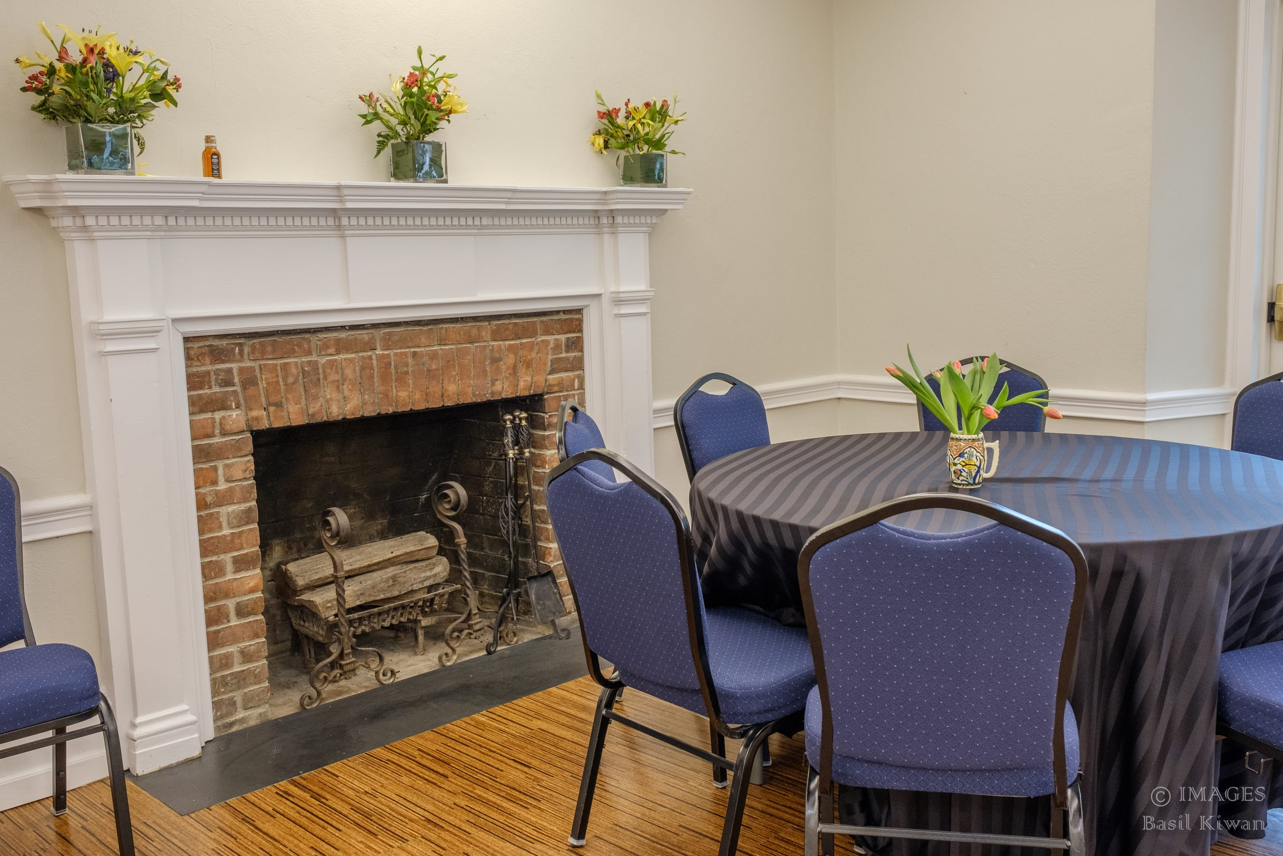 The Assembly Room's fireplace