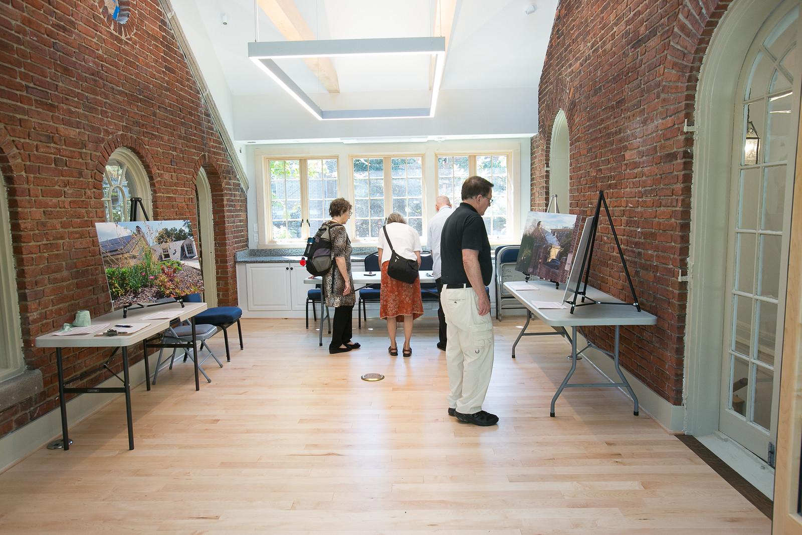 Photo exhibit in the Bridge Room